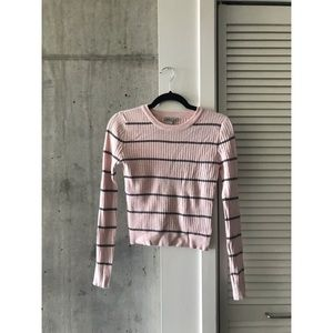 Charlotte Russe ribbed stripe sweater